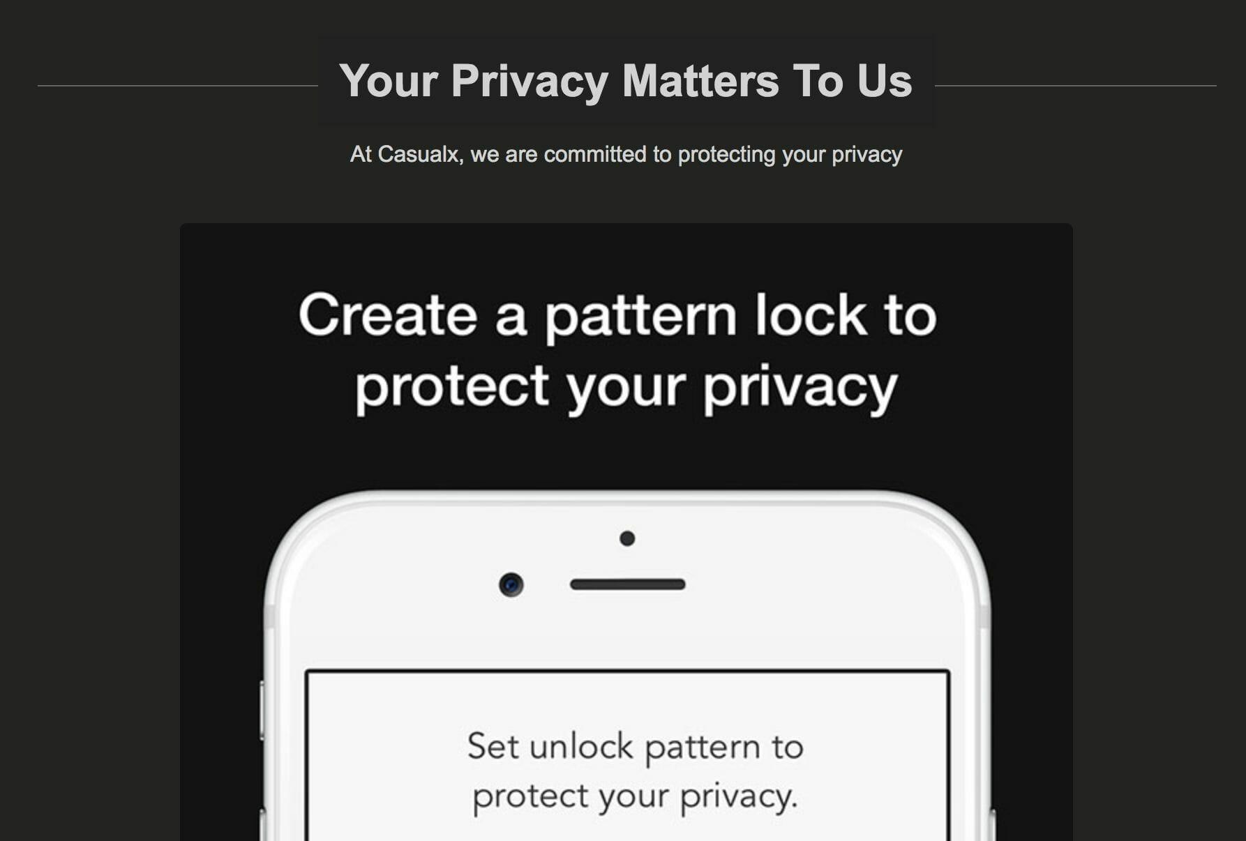 Privacy CasualX