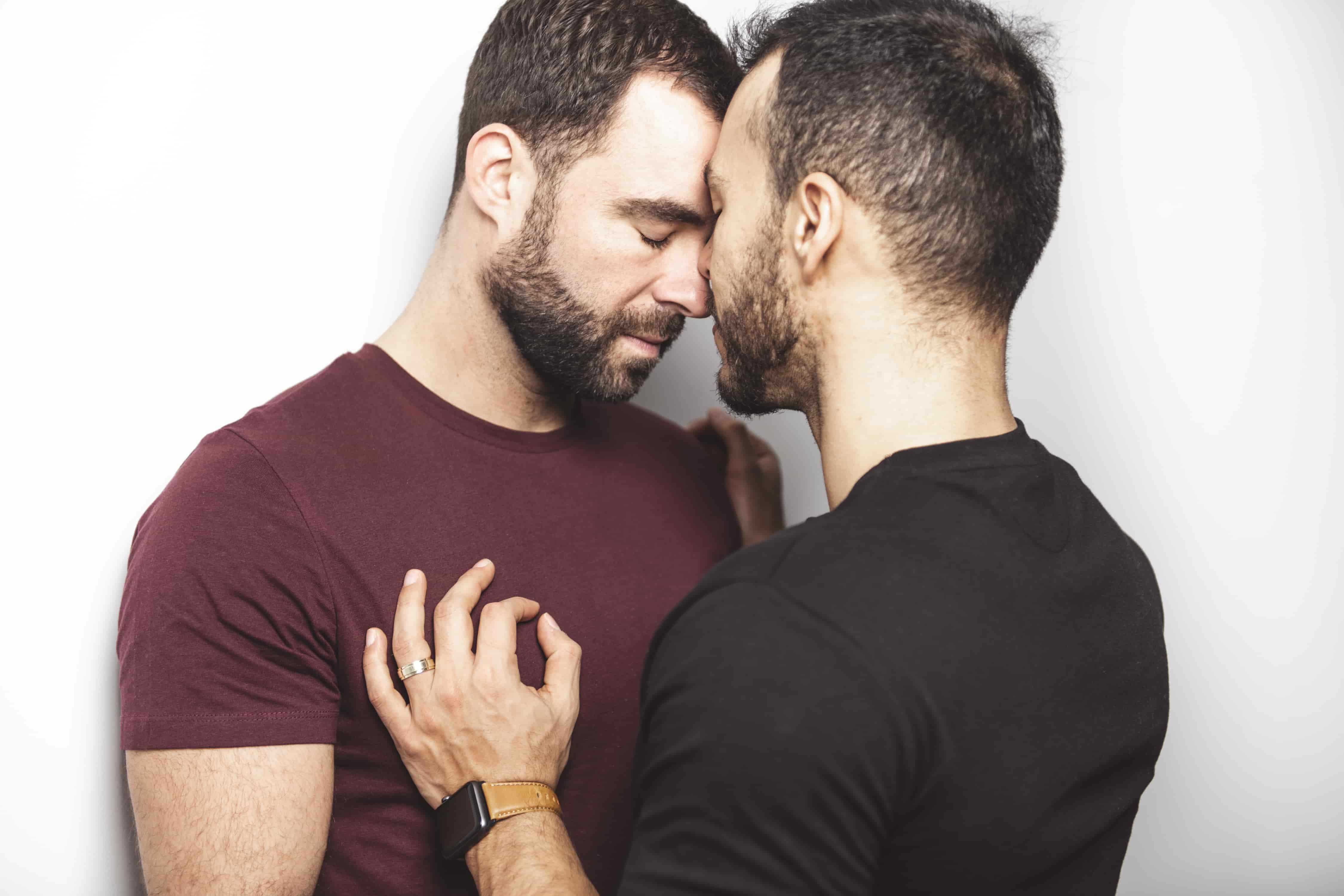 Gay Couple Kissing