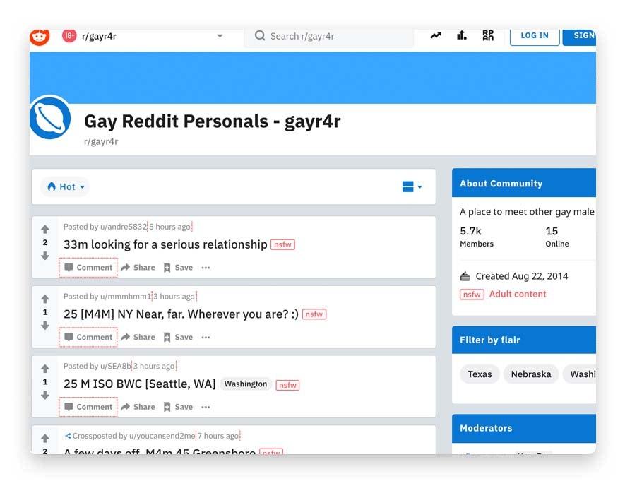 reddit gay personals